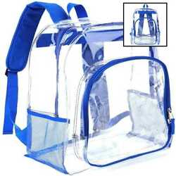 Heavy Duty TRANSPARENT Clear Backpack Plastic Bookbags See Through Backpacks For $20.80