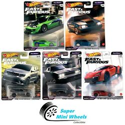 Hot Wheels 2021 Fast And Furious Fast Stars L Case Set Of 5 Cars [in-stock]