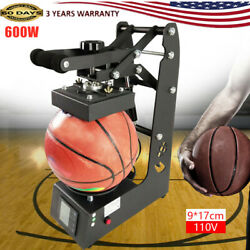 600w Ball Logo Heat Press Sublimation Football Rugby 2in1 Printing Machine Used