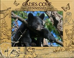 Cades Cove Tennessee Laser Engraved Wood Picture Frame 5 X 7