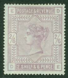 Sg 175 2/6 Lilac On Blued Paper. A Fresh Mounted Mint Example Shows Fine