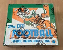 Vintage 1982 Topps Football Cards Cello Box Sealed Bbce - Non X Out - Lt Taylor