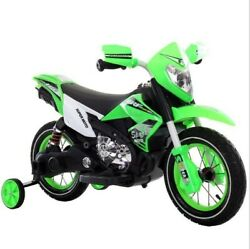 6v Kids Electric Battery Powered Ride-on Motorcycle With Training Wheels