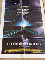 Vtg -1977-close Encounters Of The Third Kind -1st-one Sheet Poster 770181