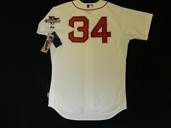 Authentic David Ortiz Boston Red Sox 2014 Ring Ceremony Gold Cool Base Jersey 52