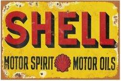 Tin Signs Reproduction Vintage, Gas Oil Car Metal Signs For Garage Man Cave Bar