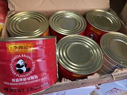 Lot Of 6 Cans 30lbs Lee Kum Kee Panda Brand Oyster Flavored Sauce Free Shipping