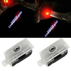 2x Led Door Courtesy Projector Puddle Logo Lights For Dodge Charger 2006-2019