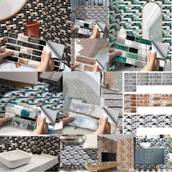 Mosaic Tile Stickers Stick On Bathroom Kitchen Home Wall Decal Self-adhesive New