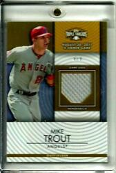 Mike Trout 2012 Topps Triple Threads Game Used Memorabilia Ssp D 9/9 Super Rare