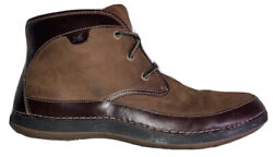Sperry Topsider Mens 10 Shoes Brown Leather Ankle Boots Leather Laces Sts10313