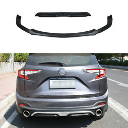 Black Abs Front Skid Plate Bumper Board Guard 2pcs Fit For 2019-2021 Acura Rdx