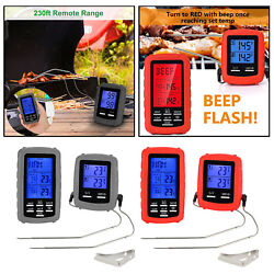 Bbq Food Thermometer Oven Water Hot Drinks Meat Instant Read Lcd Gauge Meter