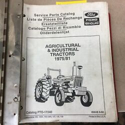 Ford New Holland 2600 3600 4100 7600 ++ Parts Manual Book Catalog Tractor 17240