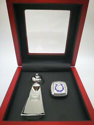 2006 Indianapolis Colts Super Bowl Manning Ring And Vince Lombardi Trophy Set