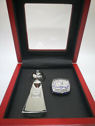 2013 Seattle Seahawks Wilson 3 Super Bowl Ring And Vince Lombardi Trophy Set