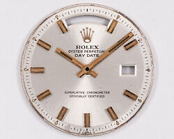 Vintage Original 1970and039s Rolex Wide Boy Dial And Hands For 1803 Day Date