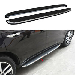 Black Running Board Side Pedals Foot Pedal Trim 2pcs Fit For 2015-2020 Acura Mdx