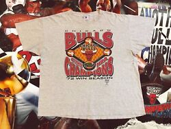 Chicago Bulls 72 Win Season Vintage Single Stiched 1996 Nba Finals Shirt Size Xl