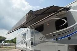 14and039 Carefree Dual Stage Latitude Rv Awning Black/gray Gx168lp5abrb Race Trailer
