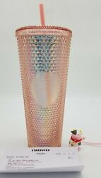 Starbucks China 2021 Ox Year Cow Topper Pink Coral Diamond Studded Tumbler Usa