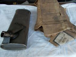 Vintage Opel Oval Muffler 5776 Stamped D-06 18 Long Never Installed Free Ship