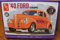 Amt And03940 Ford Coupe 1/25 Scale Model Kit Molded In White Build One Of Three Ways