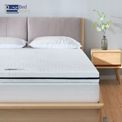 Queen Size Memory Foam Bedstory 3 Inch Mattress Topper Bamboo With Cover Pads