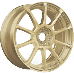 4 - 17x7.5 Gold Wheel Konig Runlite 5x4.25 45