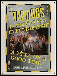 Tap Dogs Original Broadway Play Theatre Display Banner Poster 37 X 50