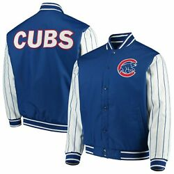 Chicago Cubs Jh Design Quilted Knit Jersey Lined Jacket - Royal