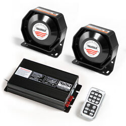 Yhaavale 400w Car Siren Horn Alarm With Mic System And 12v Metal/plastic Speakers