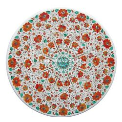 Marble Dining Center Table Top Hakik Inlay Floral Decorative Malachite Art H1427