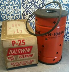 Vintage Filter New Ch-106pl Buick 1953-58, Olds 1949-59 Baldwin P-25 Box