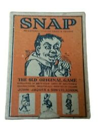 John Jaques Snap The Old Original Card Game 64 Cards Of Grotesque Characters