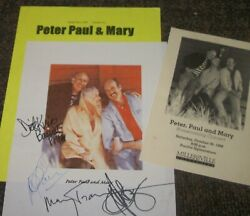 Peter Paul And Mary Autographed Photo And Photos - Really Collectible