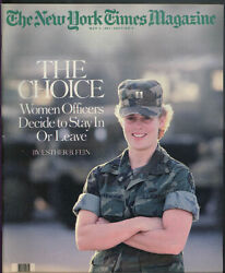 New York Times Magazine Army Women Officers Stay Or Leave David Byrne 5/5 1985