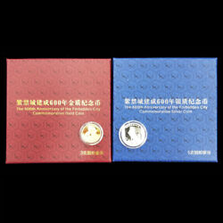 2020 600th Anniversary Of The Forbidden City 3g Goldand 5g Silver With Coa And Box