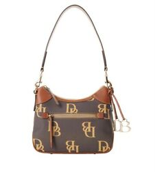 Dooney amp; Bourke MONOGRAM SMALL HOBO in Brown Tmoro $188.00