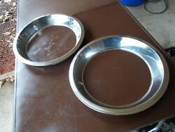 Nos Gm Ford Mopar 15 Inch Trim Rings Stainless Vintage 2-5/8 Inches Deep On Face
