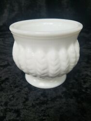 Vintage Randall Milk Glass Vase, 4 Inches Tall, 4 Inches Across At Top
