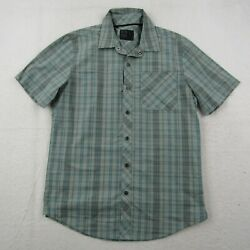 Magpul Snap Button Up Shirt Adult Small Men Green Blue Striped Shooting Casual $34.95