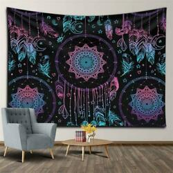 Bohemian Tapestry Wall Hanging Mystic Feather Moon Star Tapestries Bedroom Decor