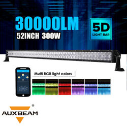 Auxbeam 52 Inch 300w 5d Rgb Led Light Bar Multicolor For Offroad Truck Driving