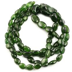 Natural Chrome Diopside Oval Smooth Gemstone Beads Strand 6-8x8-12mm 16 Inches