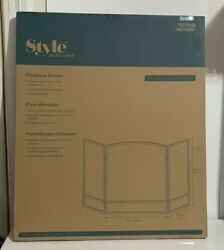 Style Selections Arched Fireplace Fire Screen Black Finish Metal 15951l