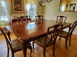 Ethan Allen Cherry Dining Room Table And Chairs