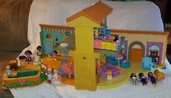 Dora The Explorer Talking Doll House Huge Lot With Pool, Figures, And Furniture