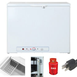 Smad 7.0 Cu Ft Propane Gas Chest Freezer Lp Gas Off-grid Camping Chiller Cottage