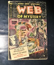 Web Of Mystery 1 Horror/ Monster / Sci-fi Comic Pre-code  Voodoo Witch